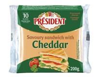 President Sýr tavený Cheddar chlaz. 1x200g