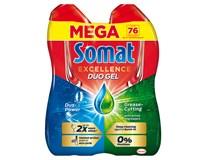 Somat Excellence Gold Anti-Grease Gel na mytí do myčky (76 dávek) 2x684ml