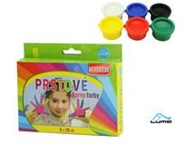 Barvy prstové Luma 30ml 6 barev 1ks