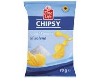 Fine Life Chipsy sůl 1x70g