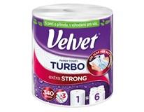Velvet Turbo Kuchyňské utěrky 3-vrstvé 330 útržků 1x1ks