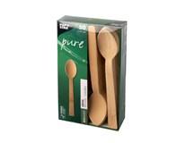 Pap Star Lžíce Pure 17cm bambus 1x50ks