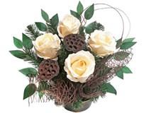 Dekorace květinová - růže různé barvy 1ks