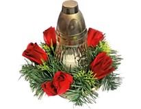 Dekorace květinová se svícnem LA 310 1ks