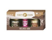 Purity Vision Wellness dárková sada (kávový peeling 110g+růž. voda 50ml+bam. máslo 120ml)