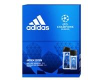 Adidas UEFA VII dárková sada (natural deodorant sprej 75ml+sprch. gel 250ml)
