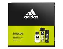 Adidas Pure Game dárková sada (voda po hol. 50ml+deo 150ml+sprch. gel 250ml)