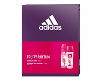 Adidas Fruity Rhythm dárková sada (natural deodorant sprej 75ml+deo 150ml)