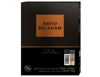 David Beckham Bold Instinct dárková sada (natural deodorant sprej 75ml+deo 150ml)