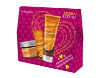 Dermacol Aroma Ritual belgická čok. dárková sada (sprch. gel 250ml+scrub 200g+tek. mýdlo)