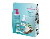 Dermacol Aroma Ritual kokos dárková sada (krém na ruce 150ml+tek. mýdlo 250ml)