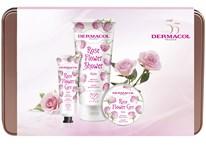 Dermacol Flower růže dárková sada (těl. máslo 75ml+krém na ruce 30ml+sprch. krém 200ml)