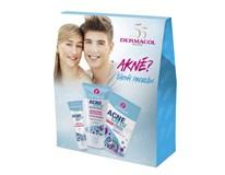 Dermacol Acneclear dárková sada (maska 2x7x5ml+krém 50ml+mycí gel 150ml)