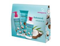 Dermacol Aroma Ritual kokos II. dárková sada (tek. mýdlo 250ml+sprch. gel 250ml+pěna do koup. 500ml)