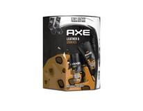 Axe Leather&Cookies dárková sada (sprchový gel 250ml+deo sprej 150ml+ponožky)
