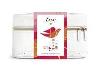 Dove dárková sada (sprch.gel African ritual 250ml+antiper.sprej Cacao&Hibiscus 150ml+šamp. na barvené vl. 250ml+Dermaspa Goodness Jar 300ml) taštička
