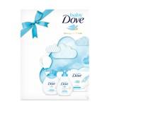 Dove Baby Rich Moisture dárková sada (mycí gel na celé tělo 200ml+těl. mléko 200ml+vlhčené ubrousky 50ks)+hračka