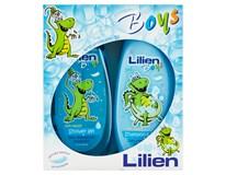 Lilien Kids Boys dárková sada chlapci (sprchový gel 400ml+šampon 2v1 400ml)