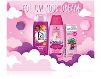 Dárková sada pro děti (Fa sprch. gel/šampon+Schauma šampon/balzám+Vademecum zubní pasta)