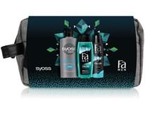 Dárková sada pro muže (Syoss šampon 440ml+ Fa sprch. gel 250ml+Fa deo 150ml) taštička