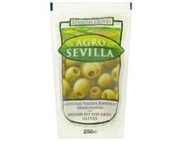 Agro Sevilla Olivy zelené bez pecky 6x200g