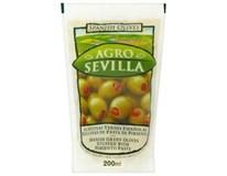 Agro Sevilla Olivy zelené s paprikou 6x200g