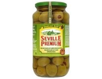 Seville Premium Olivy zelené královské s paprikou 1x935g