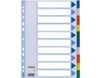 Rozlišovač plast 10 listů A4 maxi 1ks