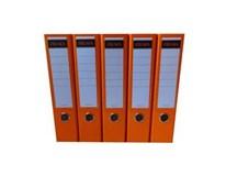 Pořadač Sigma A4/8cm oranžový 5ks