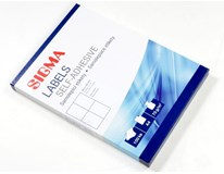Etikety Sigma 105x148mm bílé 100 listů 1ks