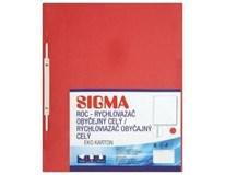 Desky-rychlovazač obyčejný celý Sigma ROC červené 10ks