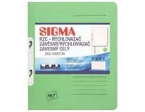 Desky-rychlovazač závěsný Sigma RZC zelené 10ks