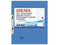 Desky-rychlovazač závěsný půlený Sigma RZP modré 10ks