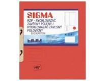 Desky-rychlovazač závěsný půlený Sigma RZP červené 10ks