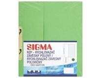 Desky-rychlovazač závěsný půlený Sigma RZP zelené 10ks