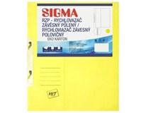 Desky-rychlovazač závěsný půlený Sigma RZP žluté 10ks