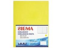 Desky Odkládací mapa Sigma 250 žluté 10ks
