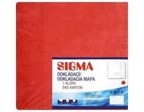 Desky Mapa Sigma 251 červené 10ks