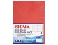 Desky Odkládací mapa Sigma 253 červené 10ks