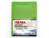Desky Odkládací mapa Sigma 253 zelené 10ks
