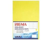 Desky Odkládací mapa Sigma 253 žluté 10ks