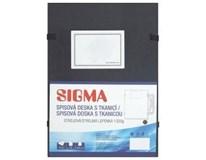 Desky s tkanicí Sigma černé 10ks