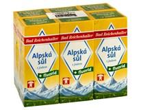 Alpská sůl s jódem a fluorem 6x500g