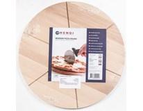 Deska na pizzu 35cm s drážkami 1ks