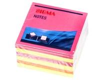 Bloček samolepicí Sigma 75mm 80lístků neon 6ks