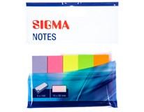 Záložky Brilliant Sigma 100lístků 5ks