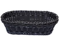 Koš oválný APS plastový 16x18cm černý 1ks