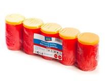 Svíčka hřbitovní olejová 150g červená 5ks
