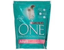 Purina One losos+rýže granule pro kočky 1x800g