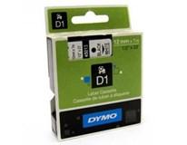 Páska Dymo Letratag 12mm/7m černá na bílé 1ks
